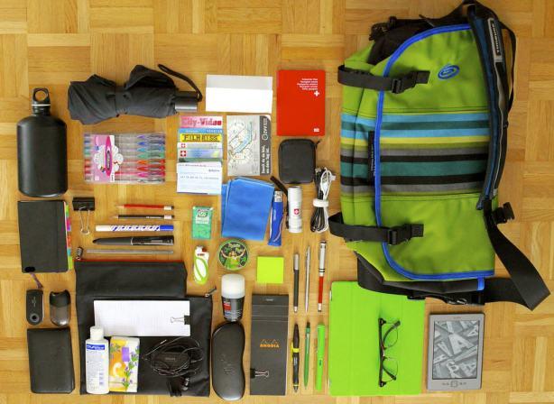 What's in my bag 15.09.2012 - sans MacBook Pro