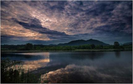 Sunrise over Boarst Lake (Mirror Pond) May 2013. Taken by Danny Raphael