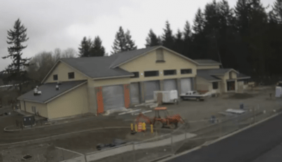 Photo from Live Webcam monitoring progress of North Bend's new fire station