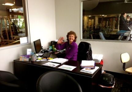 Sue Dowling in her new Anytime Fitness office