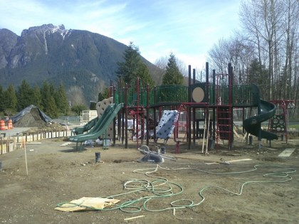 New playground taking shape in March on the park's east side