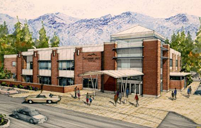 Rendering of new Snoqualmie Valley Hospital scheduled to open in the 1st quarter of 2015