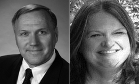 David Spring and Marci Busby, Snoqualmie Valley School Board District 4 candidates.