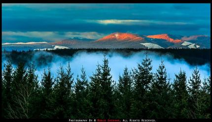 Sunset over Snoqualmie Valley by Manju Shekhar, 2/12/14.