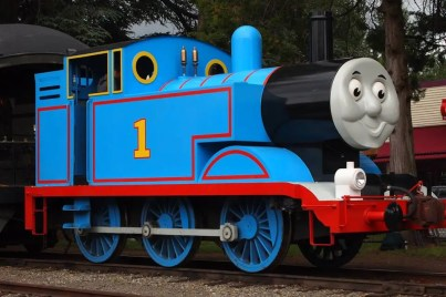 Thomas the Train at Snoqualmie Depot summer 2013. Photo: NW Railway Museum Facebook page