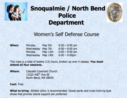 self-defense course