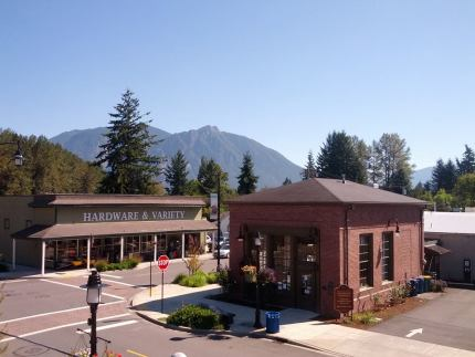 Snoqualmie Visitor Center in downtown Snoqualmie.