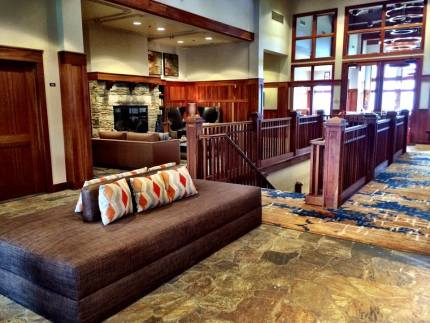 Redesigned entry into TPC Snoqualmie Ridge clubhouse.  Pic: Facebook