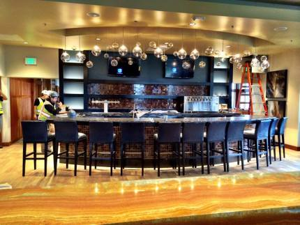 New bar inside redesigned restaurant space.  Pic: TPC Snoqualmie Ridge Facebook page