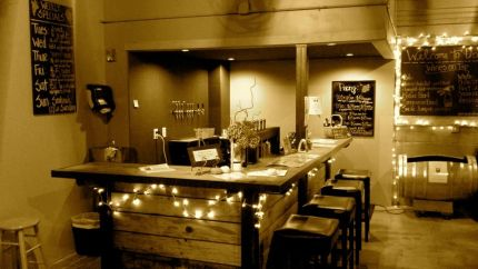 Piccola Cellars transformed the interior of the old North Bend Firehouse. Photo: Piccola Facebook page.