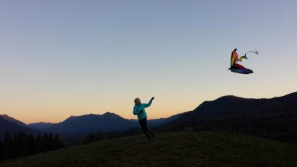 Kite flying near TPC Snoqualmie Ridge, 11/11/14. Pic by Sandy Owen