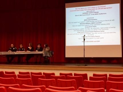 Internet Safety Panel at MSHS, 3/12/15. Photo: Rachel Mark