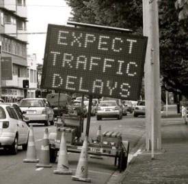 traffic delay sign