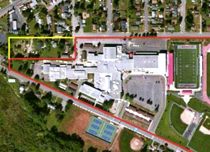 Parcels of contiguous land the Snoqualmie Valley School District is negotiating to purchase to enlarge Mount Si High School and meet parking codes.