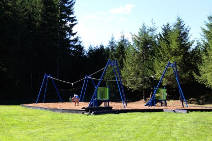 Two zip lines were included at redesigned Fisher Creek Park