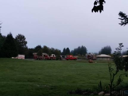 Fire and aid crews at Torguson Park, 9/21/15. Photo: Casondra Brewster via Facebook