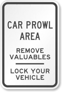 Lock-Vehicle-Parking-Lot-Sign-K-4609