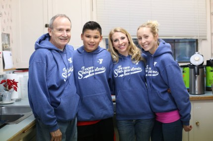 Snoqualmie Valley YMCA staff members help at last year's winter shelter.