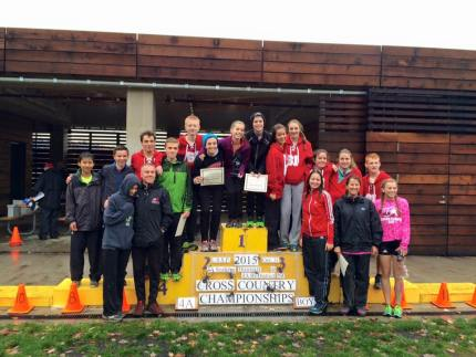 Boys and Girls MSHS Cross Country Teams after the District Championships on October 31st.
