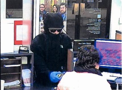 North Bend Bank of America Robbery suspect, 12/9/15.