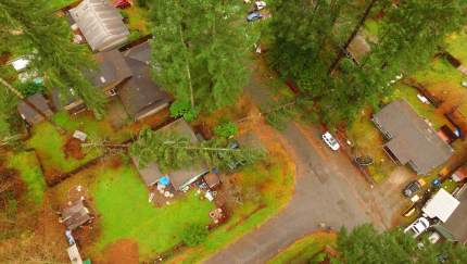 Windstorm damage in Riverbend, 12/9/15, captured by drone. Photo: Paul Sprouse