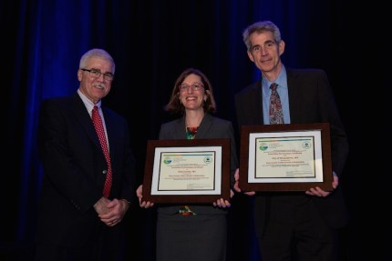 (left to right) Dennis J. McLerran, U.S. EPA Region 10; Megan Smith, King County Director of Climate and Energy Initiatives; Snoqualmie Mayor Matthew R. Larson