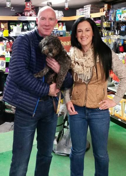 Christopher and Brenna at Pet Place Market