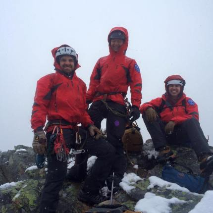 SAR teams at the summit of Guye Peak. Photo: SMR Facebook page.