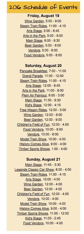 RR Days Schedule