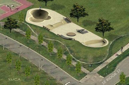 conceptual skate park