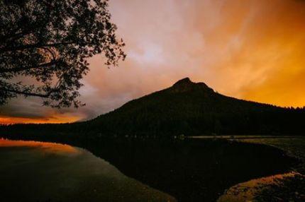 City light reflected, Rattlesnake Lake by Sam Saimo