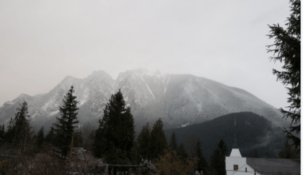 Snow on Mount Si, 12/4/16. Photo: North Bend weather