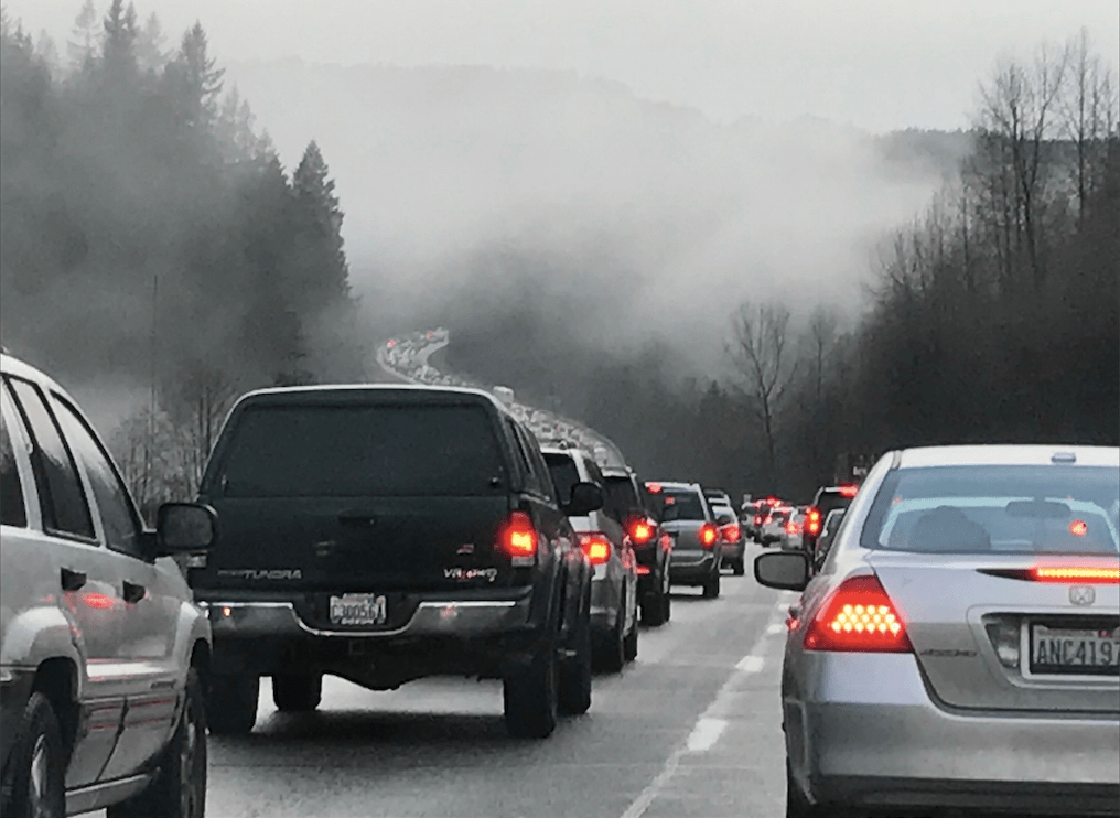 Multi Vehicle accident on I-90 near Preston slows Thursday
