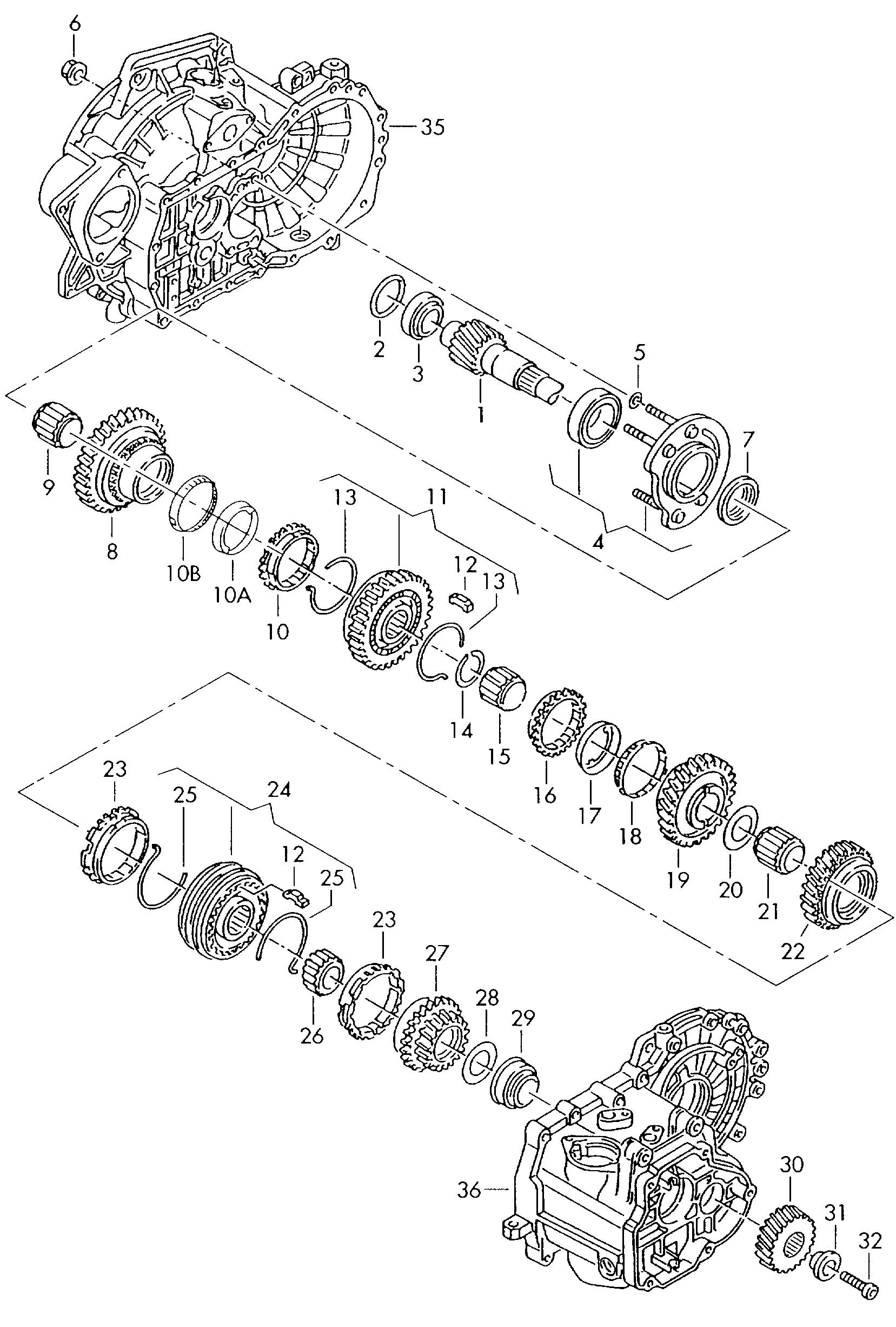 Balero Recepcion Del Pinon De La Caja De Velocidades