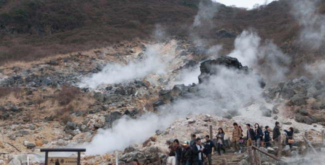 「箱根 大涌谷  温泉黒たまごを食べると寿命が延びる?」のアイキャッチ画像