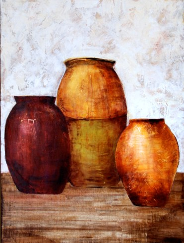 mix media, acrylic paint, canvas, art, texture, olive jars earth toned