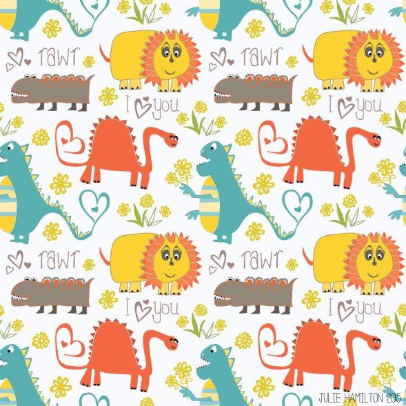 Dinosaurs say Rawr - Julie Hamilton Creative {artistically afflicted blog}