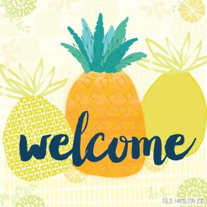 Pineapple Welcome - Julie Hamilton {artistically afflicted blog}