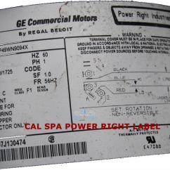 1996 Cal Spa Wiring Diagram Iveco Daily Pump Library Power Right 56 Frame 6 0 Hp 230 Volt 2 Speed Prc9094x