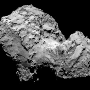 Comet 67P/Churyumov–Gerasimenko from Rosetta Probe(source)