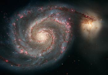 Cosmology Pictures from the Hubble Space Telescope HST named after Edwin Hubble