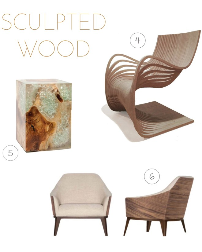 4. Pipo Chair by Roberta Schilling | 5. Orion Side Table by Made Goods | 6. Torino Chair by Roberta Schilling