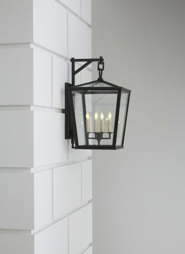 Lantern style outdoor sconce light
