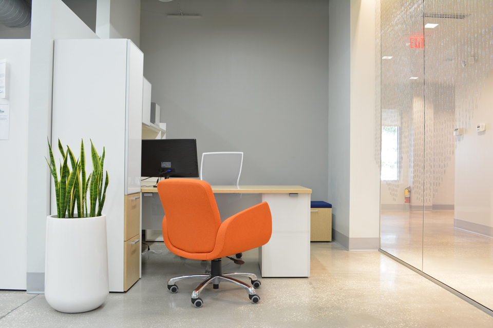 Cool office furniture and design in Tampa Florida by Space as Art