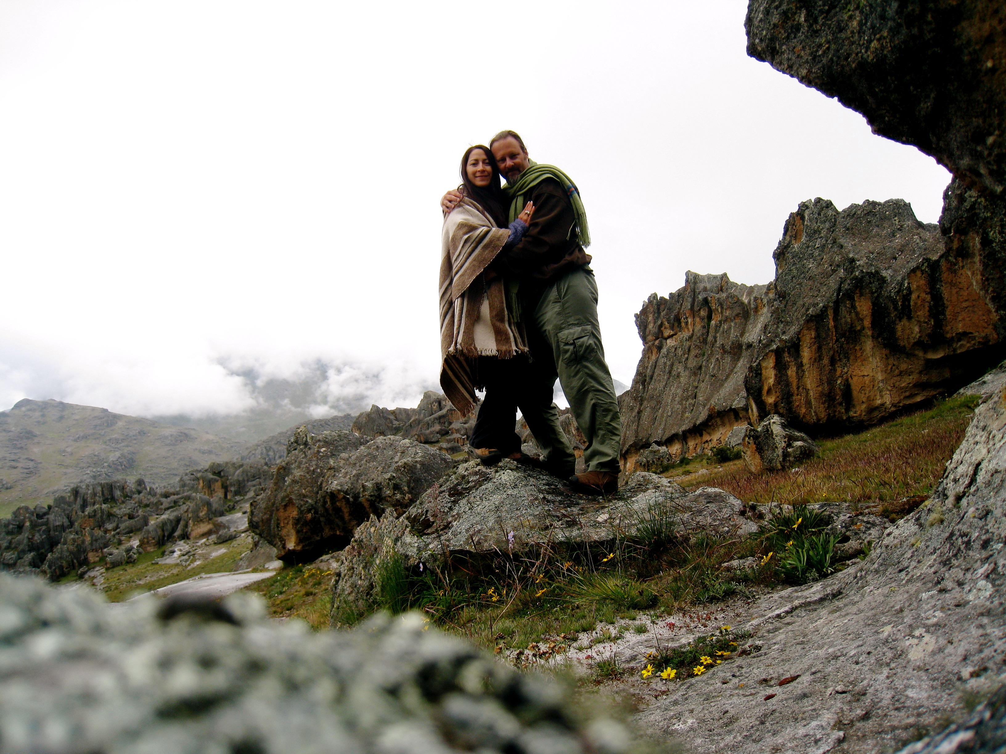 Osmunda & Darby on the rocks
