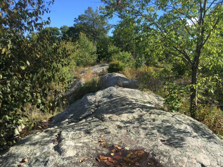 Rock ledges of West Mountain Ridge