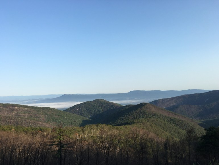 Mountains, fog and distant towns