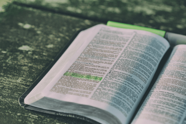 An open bible, the book that proves God's love for us.