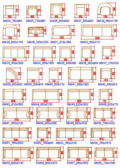 Блоки Автокад мягкой мебели
