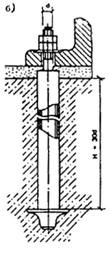 Болты съемные, устанавливаемые после бетонирования фундаментов